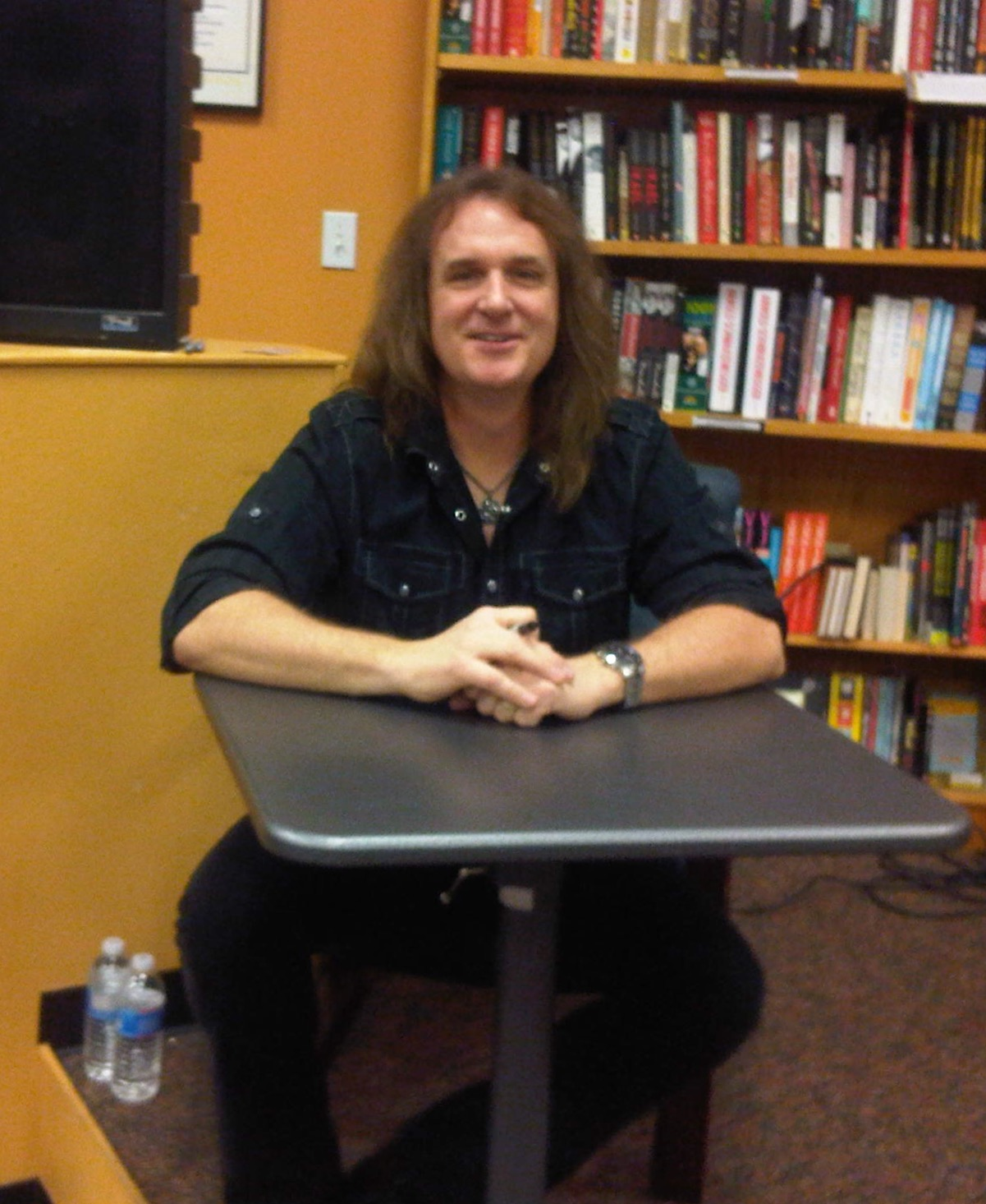 Dave Ellefson from Megadeth 11 1 13 at the releases of his book My Life in Deth