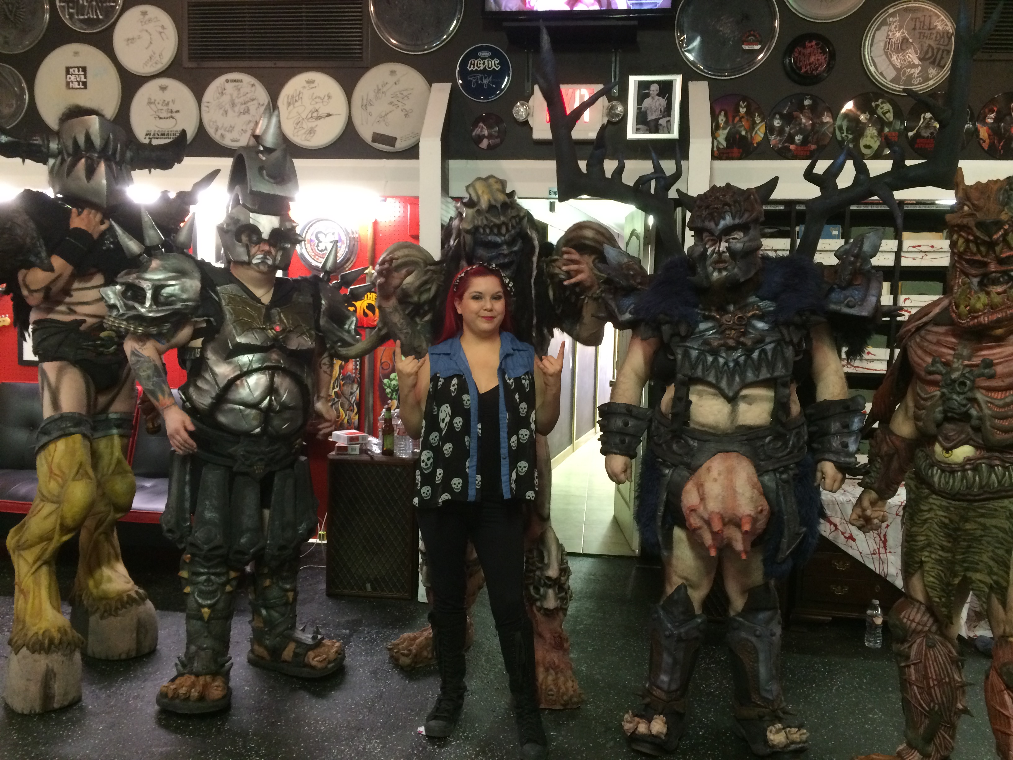 GWAR at Asylum records fro Record Store day 4/18/15