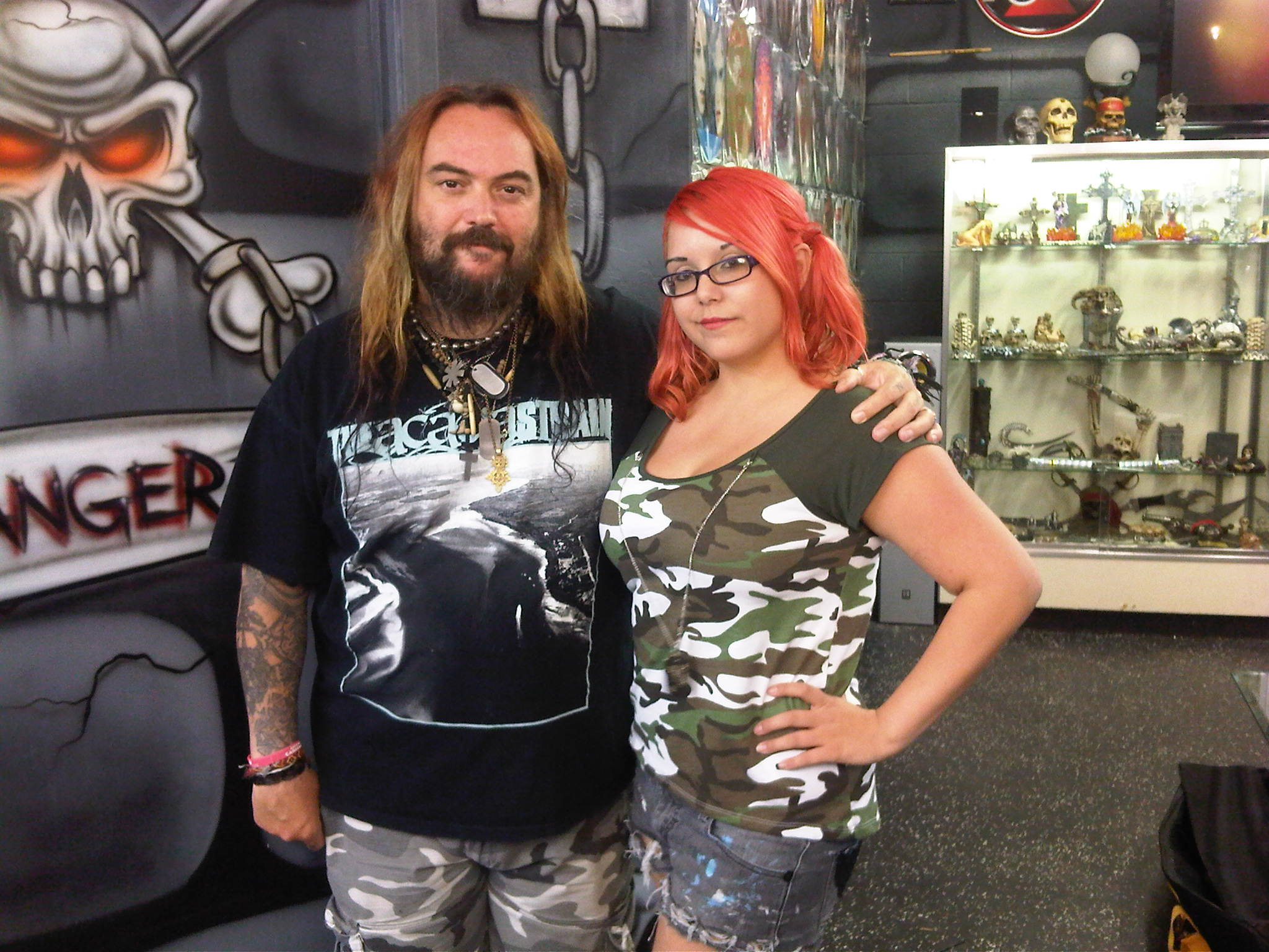 Max Cavalera of Soulfly with Mercedes on 6/17/13