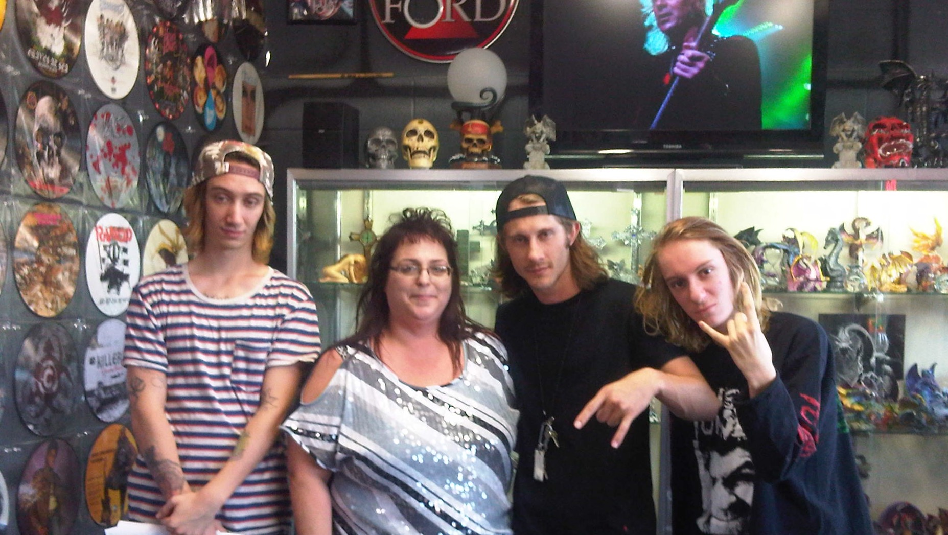 Zyon, Richie and Igor Cavalera with Phoenix at Asylum Records 06/13/13
