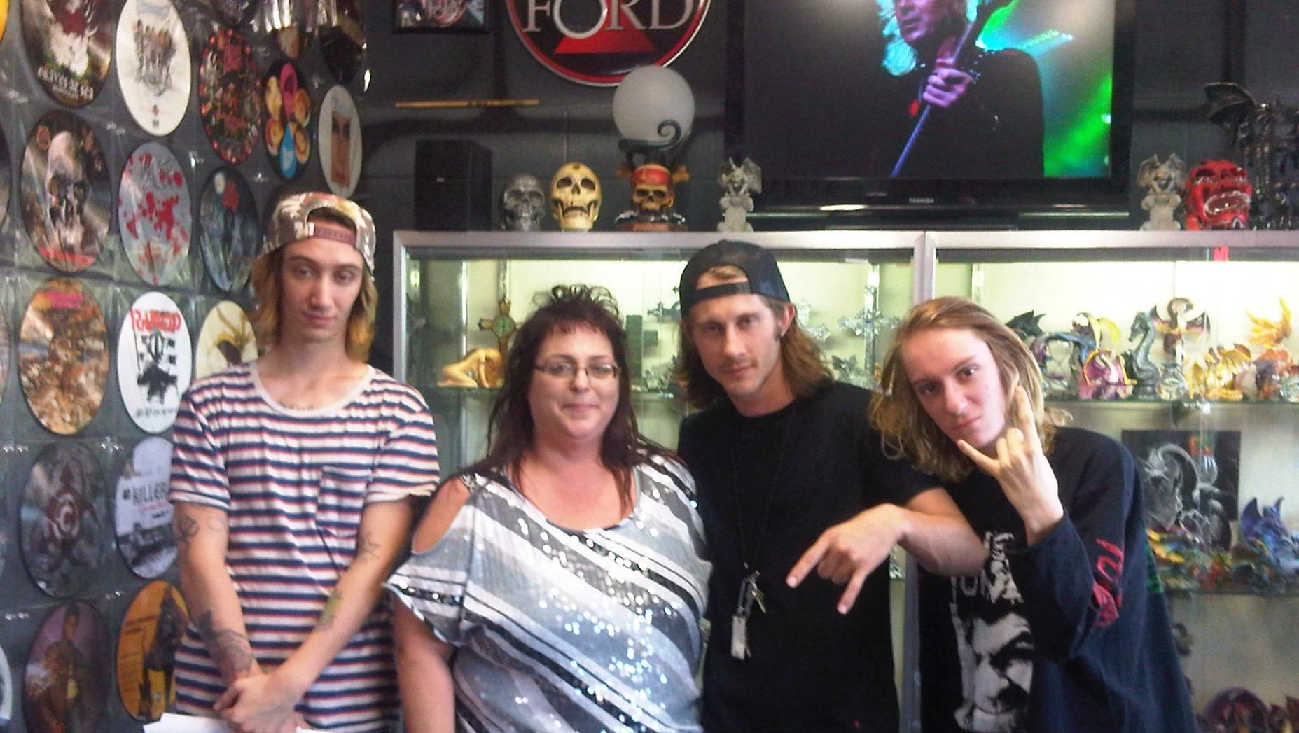 Zyon, Richie and Igor Cavalera with Phoenix at Asylum Records 06/13/13