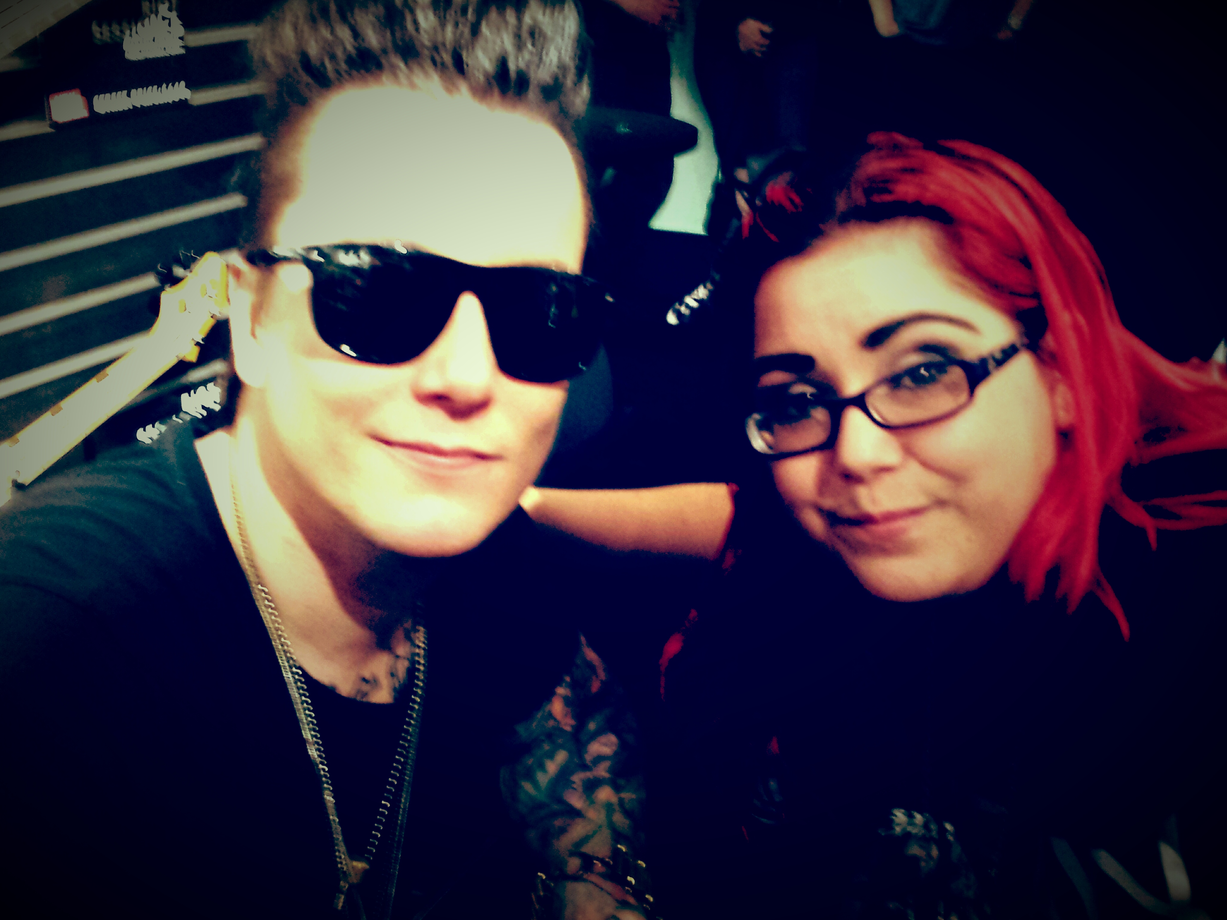Synyster Gates of Avenged Sevenfold with Mercedes NAMM 1/25/14