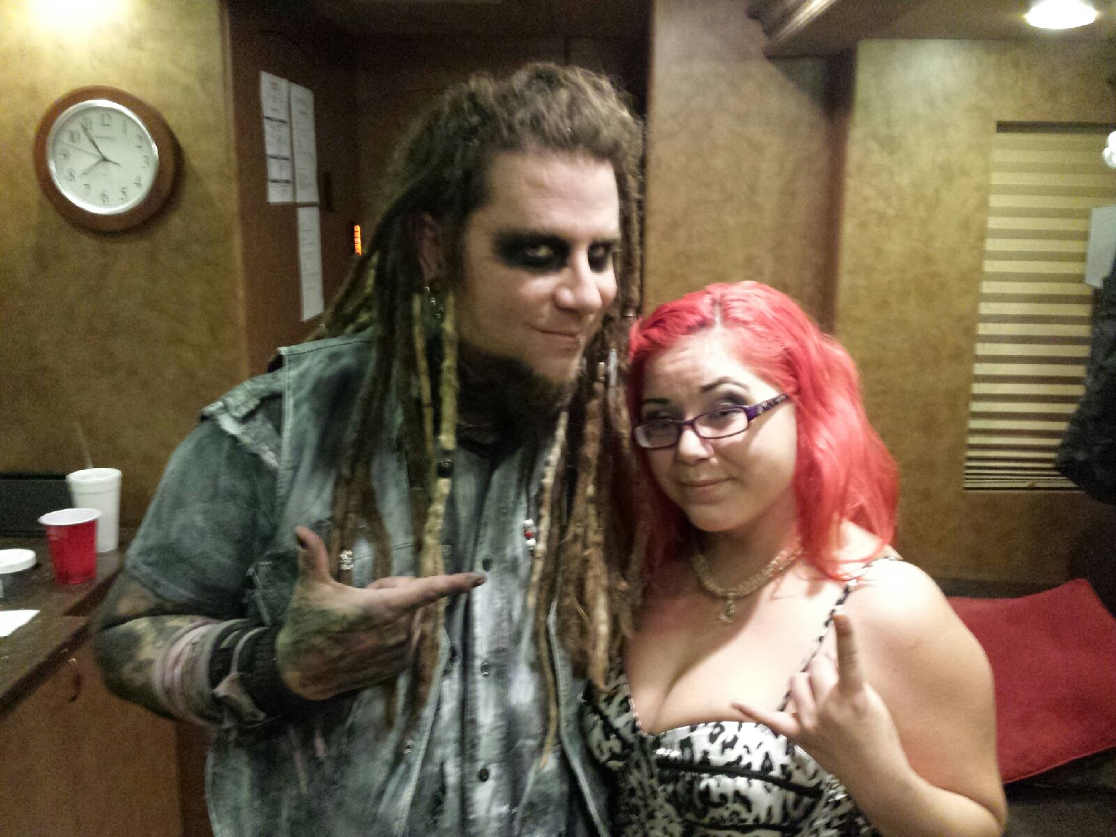 Mercedes with Chris from In This Moment 9/1/14
