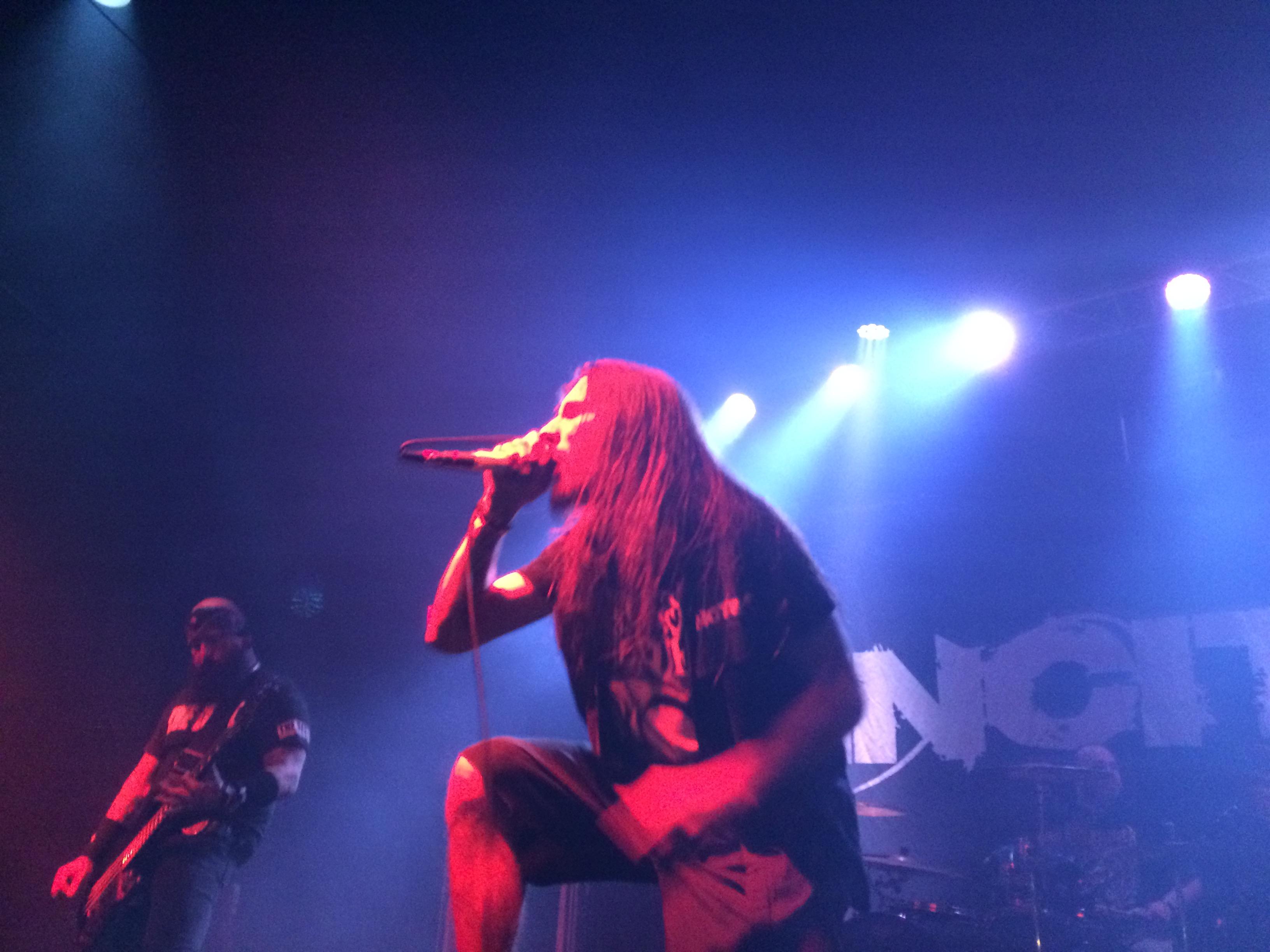 Live Picture of Richie Cavalera of Incite at Club red 4/17/15
