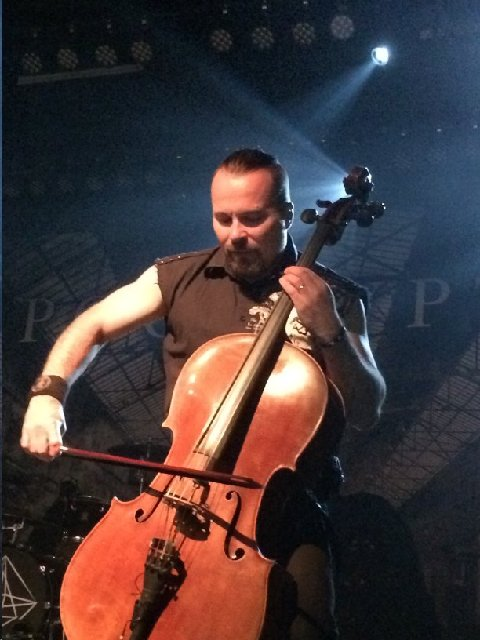 Paavo Loljonen of Apocalyptica 5-25-15 Photo by Phoenix Romero