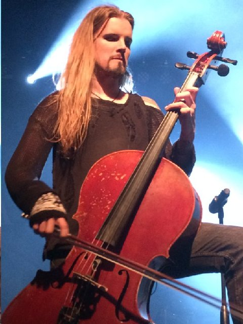 Perttu Kivilaasko of Apocalyptica 5-25-15 Photo by Phoenix Romero