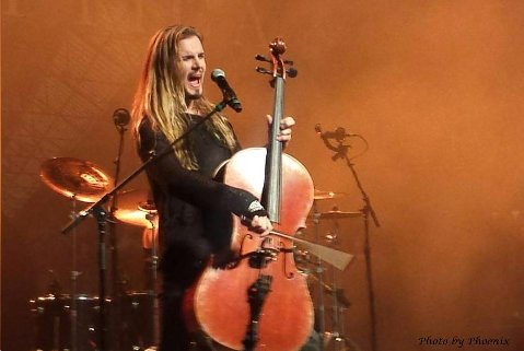 Perttu Kivilaasko of Apocalyptica Photo by Phoenix Romero