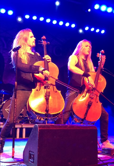 Perttu and Eicca of Apocalyptica 5-25-15 Photo by Phoenix Romero