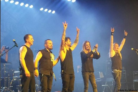 The Final Bow Apocalytica with Jeff Brown on Drums Photo by Phoenix Romero