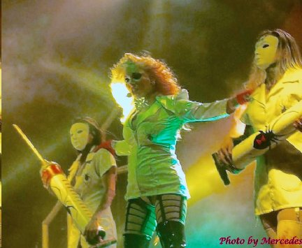 Maria Brink with dancers from In This Moment